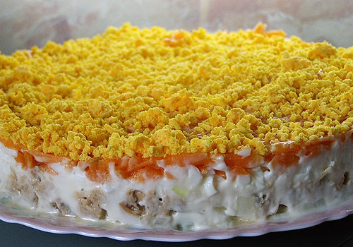 salat mimoza Классический салат мимоза