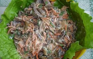 Салат из печени по-китайски