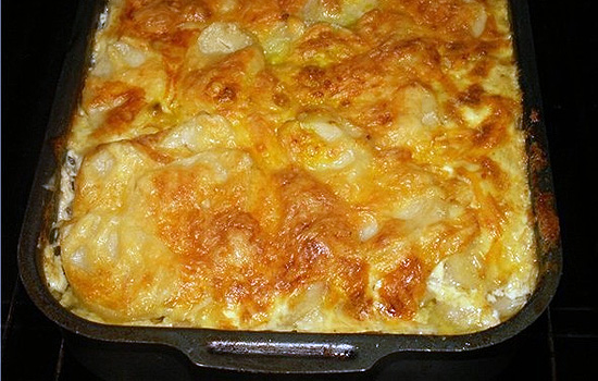 Запеканка картофельная с ветчиной