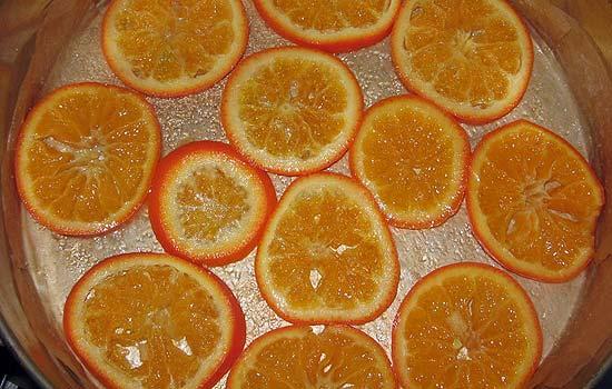 Торт с заварным апельсиновым кремом