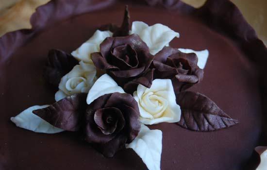 Торт с творожной и маковой начинкой