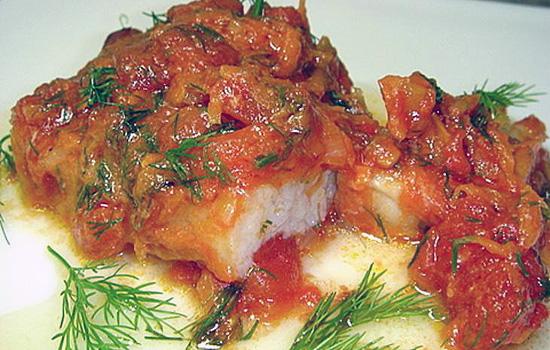 Рыба под маринадом, запеченная в духовке