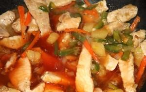 Свинина в томатно-горчичном соусе