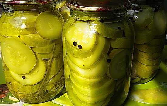 Маринованные кабачки (патиссоны)