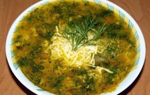 Гречневый суп с яичной заправкой