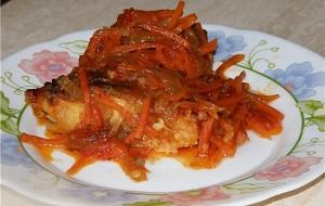Филе рыбы с морковью