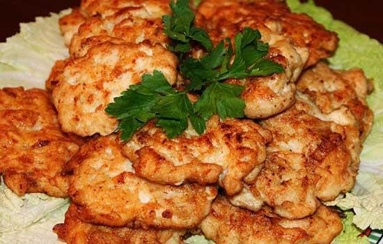 Шницели куриные с грибами