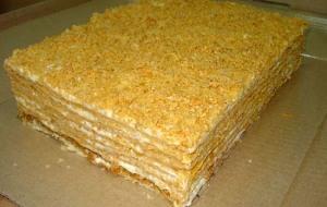 Торт из творожного теста