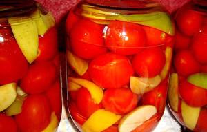 Помидоры, консервированные с яблоками