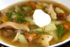 Картофельный суп с вешенками