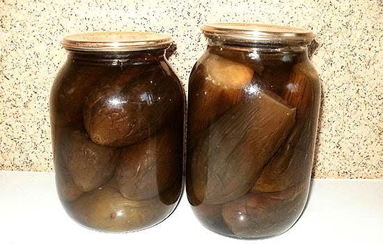 Баклажаны, консервированные целиком