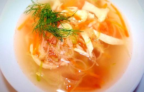 Суп постный с капустой