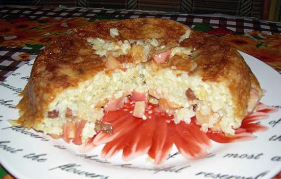 Яблочно-рисовая бабка