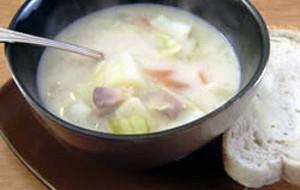 Суп с грибами и овсяными хлопьями