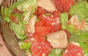 Рыбный салат с грейпфрутом