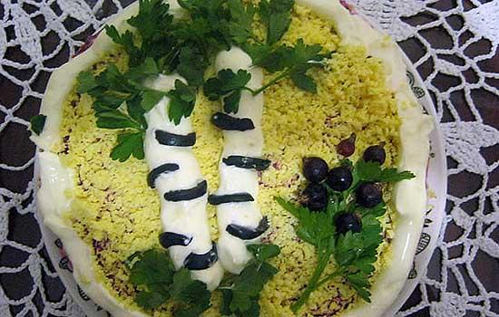 Закусочный торт Береза белая