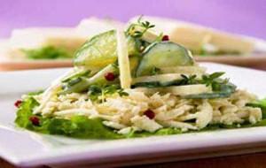 Салат из огурцов с курицей