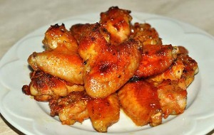 Куриные крылышки в мандариновом соусе