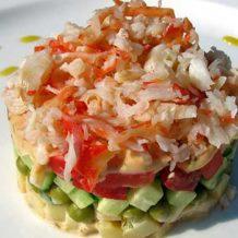 Салат из кальмаров и сладкого перца